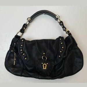 Juicy Couture Cowhide Black Leather Lock Key